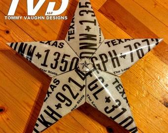 Texas License Plate Star