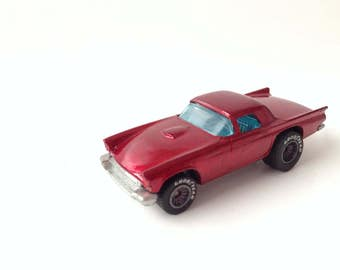 Vintage 1977 Mattel Hot Wheels '57 T-Bird with GoodYear Rubber Tires (Red)