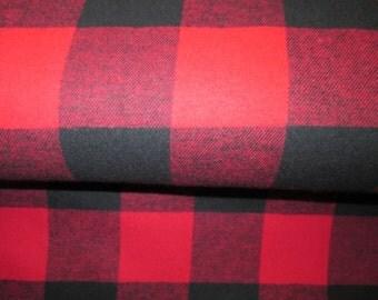 bucheron flanel fabric black the red