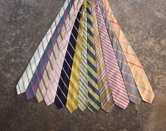 Vintage Men's Necktie Bundle in Spring Colors