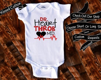 Baby Onesie Dr Heart Throb MD Shower Gift Nursery Custom Clothing Infant Gerber Baby Bodysuit {K169}