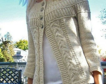 Jacket Cardigan in Alpaca
