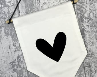 Heart Fabric Banner