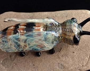 Colorful Glass Bee Pipe