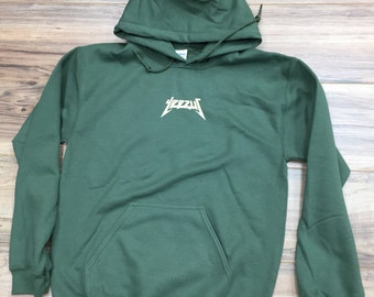 Yeezus  Hoodie -military green-kanye west-yeeze (Cream-Print)