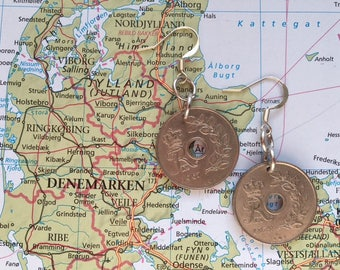 Denmark coin earrings - 2 different desgins - made of original coins from Denmark - wanderlust - globetrotter