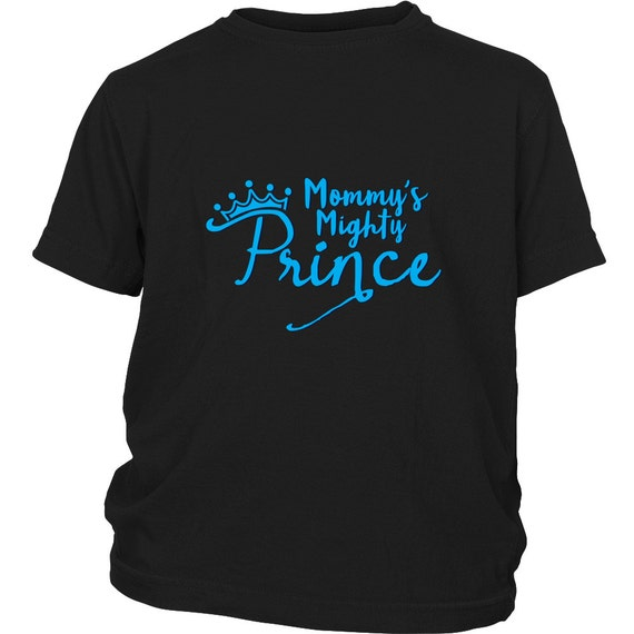 Youth Shirt - Mommy's Mighty Prince Blue