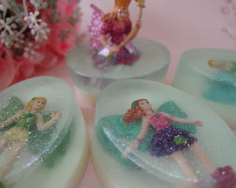 Fairies Safari Ltd® Soap – Kids Soap – Apple Mango Tango - Goat Milk & Glycerin - Handmade Soap – Flowers - Butterflies - Gift for Kids