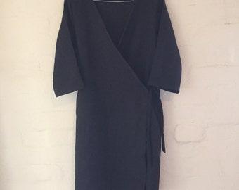 Wrap dress linen