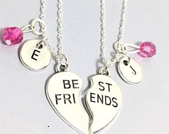 925 Stelring Silver,Best Friend Necklaces - set of 2,bff necklace for 2,matching friend necklace,silver best friend jewelry,friendship for 2