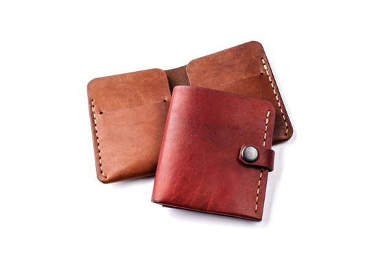 Personalized Mens wallet - boyfriend gift - gift for him - groomsmen gift - Mens leather gift - gift for husband - brown leather wallet