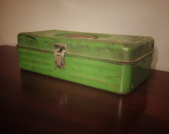 Vintage Union Tackle Box, Green, Reclaimed