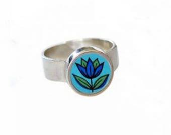 Mini Starflower Silver Ring