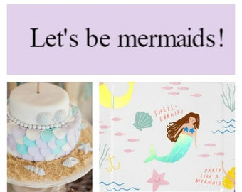 Let's be mermaids party in a box!