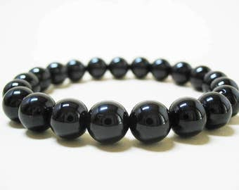 Spinel Bracelet Gemstone Bracelet Mens Bracelet Energy Bracelet Protection Bracelet Power Bracelet 8mm Black Spinel Mala Bracelet 8mm Spinel