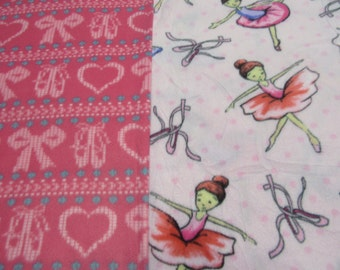 Fleece Tie Blanket-Ballerinas and Ballet Slippers, small