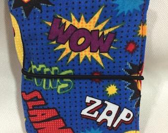 Super Hero Catch Phrase Theme Credit Card Wallet/Holder