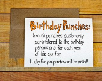 SALE! Birthday Punches Birthday Card