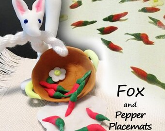 Fox and Pepper Place-mats :Twisted Thread Animal Series