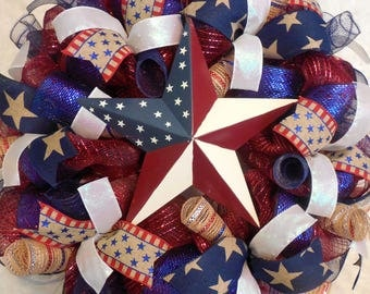 4th of July Wreath, Fourth of July Wreath, 4th of July wreaths, Fourth of July wreaths, Patriotic wreath, patriotic wreaths, July 4th wreath