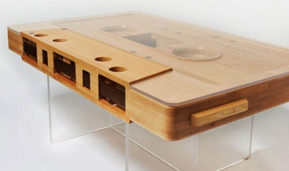 Cassette player coffee table