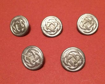 22mm 'Knot' Pewter Button (5 Pack) - Re-Enactment, Living History