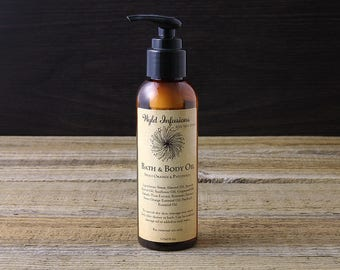 Bath & Body Oil / Massage Oil / Moisturising / Green Tea / Kakadu Plum / Essential Oils