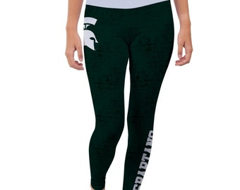Michigan State Spartans Yoga Pants Designs