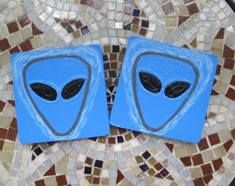 311 band uniquely hand painted coasters, hand painted wooden coasters