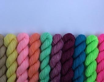 Easter minis 10pack 100% SUPER SOFT Merino wool sport weight