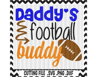 Football Svg, Daddy's Boy, Daddy's Girl, Daddy's Football Buddy, Svg-Dxf-Png, Cutting Files for Silhouette Cameo & Cricut. Svg download.