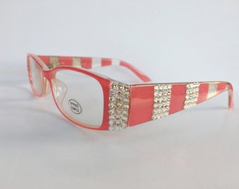 Reading Glasses Made with Authentic Swarovski Crystals +1.75