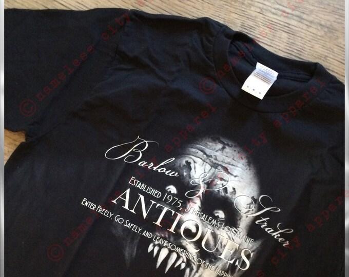 Featured listing image: Horror T Shirt - Stephen King - Salems Lot. Visit Barlow & Straker Antiques at Nameless City Apparel