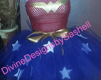 Wonder woman Tutu set, Birthday Set, Tutu Set, Wonderwoman,