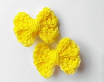 Crochet Mini Bows/Crochet Bows