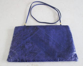 Vintage Snakeskin Clutch Purse