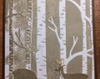 Valentine Deer Woods Greeting Card