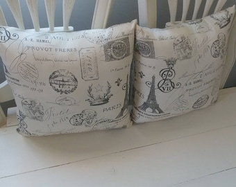 Paris themed Pillow Set