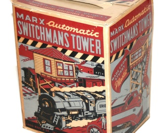 Vintage MARX TRAINS Original Box for Automatic Switchmans Tower - Box ONLY