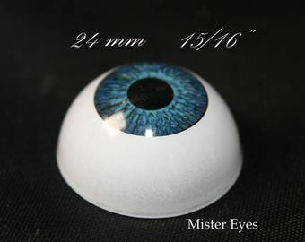 "Reborn eyes 24 mm-15/16""- Blue - 1 Pair - Doll  eyes, Bjd eyes, Reborn eyes, Crafts Eyes"
