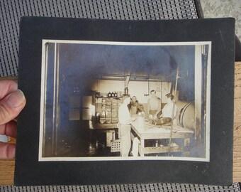 antique picture store   Original Vintage photo workers antique photo card