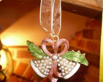Danish Christmas Bells tree decoration on Organza Ribbon.
