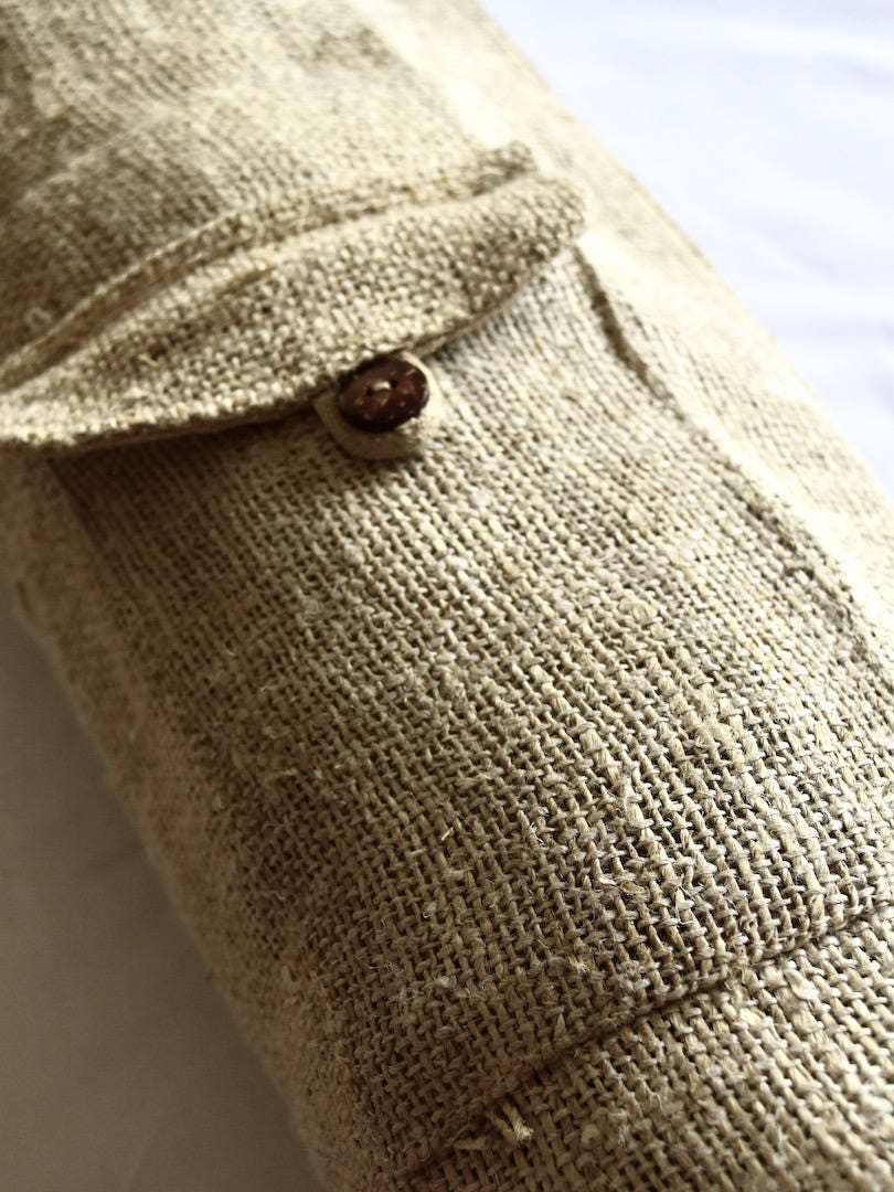 Nettle Yoga Mat Bag Large Yoga Mat Carrier Zipper Pockets Yoga