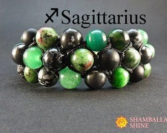Jewelry birthstone gift Stone women bracelet Sagittarius zodiac Yoga women bracelet Healing gem jewelry Personalized gemstone jewelry