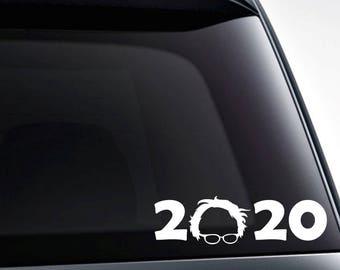 Bernie Sanders 2020 die cut vinyl decal sticker for car windows, laptops, tumblers, toolbox and more