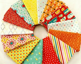 Summer Camping 12 Fat Quarters Bundle