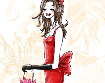 Fashion Birthday Card - Printable Download