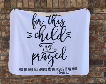 For This Child | Oh So Soft Baby Blanket | Swaddle Blanket | Hospital Blanket | Baby Shower Gift