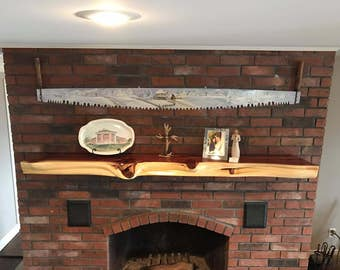 Live Edge Custom Red Cedar Fireplace Mantle