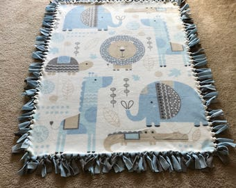 Baby blanket, Fleece blanket, Boys baby blanket, Boys fleece blanket, Blue fleece blanket, Blue baby blanket